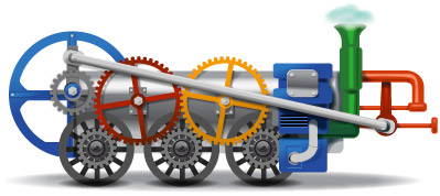 Google Logo: 240th Birthday of Richard Trevithick - British inventor of the high pressure steam engine and the full-scale working railway steam locomotive.