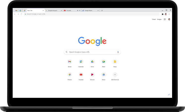 An image of Chrome, an alternative to Firefox.