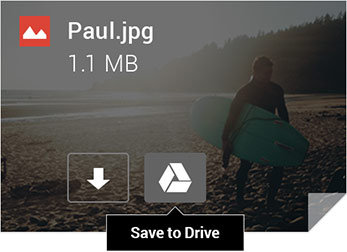 Gmail photo attachment being saved to drive with one click
