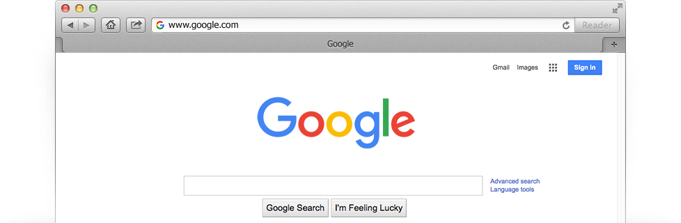 Make Google your homepage
