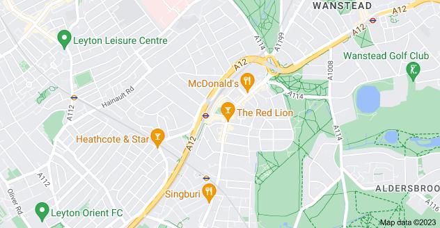Map of Leytonstone, London E11 1HE