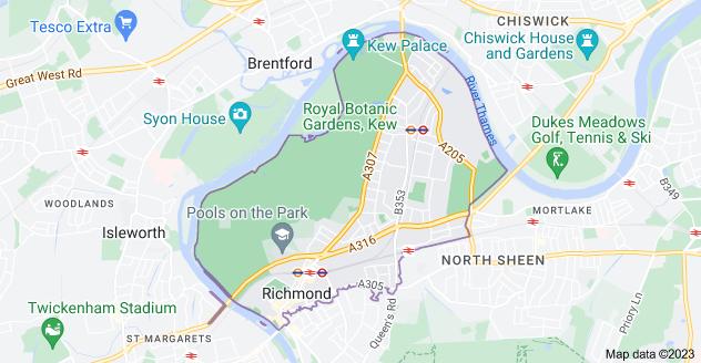 Map of Richmond TW9