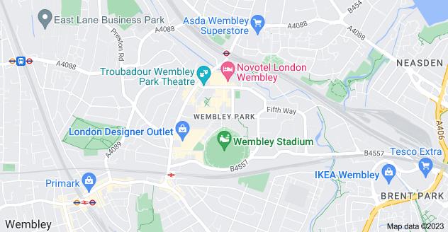 Map of Wembley Park, Wembley HA9 0EG