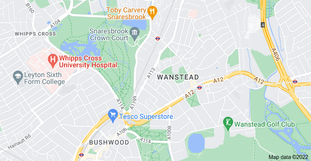 Map of Wanstead, London E11 2RP