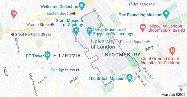 Map of London WC1E