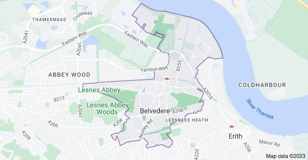 Map of Belvedere DA17