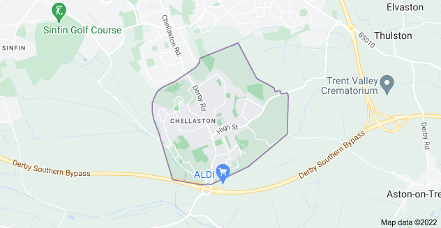 Map of Chellaston, Derby