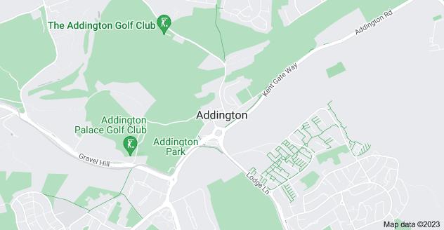 Map of Addington, Croydon CR0 5AS
