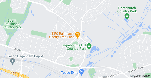 Map of South Hornchurch, Rainham RM13 8TU