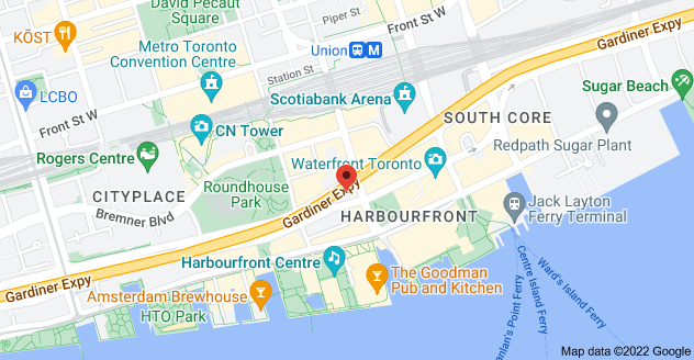 Map of 10                                                       York St #915,                                                       Toronto, ON M5J                                                       2L9, Canada