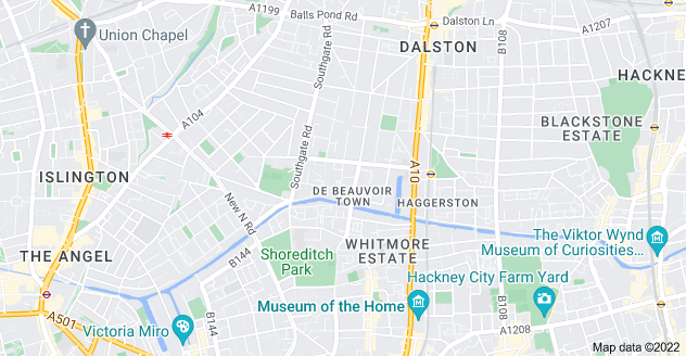 Map of De Beauvoir Town, London N1 5SF