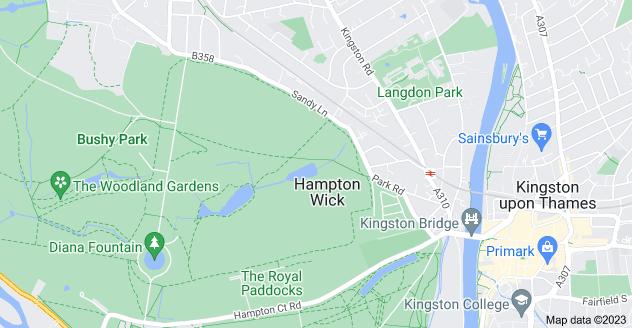 Map of Hampton Wick