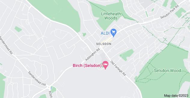 Map of Selsdon, South Croydon CR2 8LG