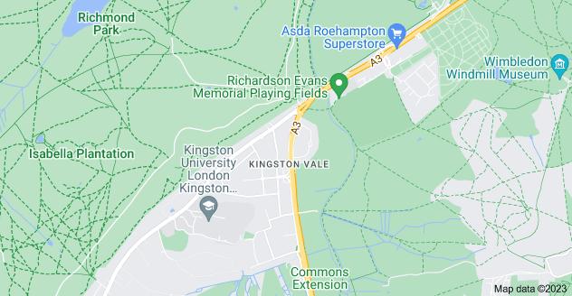 Map of Kingston Vale, London SW15 3PW