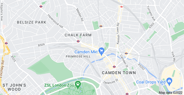 Map of Chalk Farm, London NW1 8EE