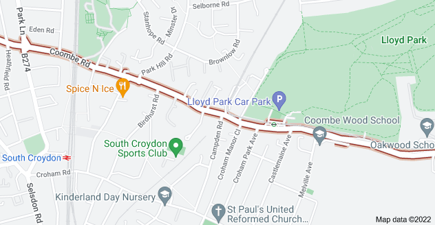Map of Coombe Rd, Croydon CR0 5SQ