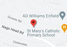 Map of St Marys Catholic Primary School