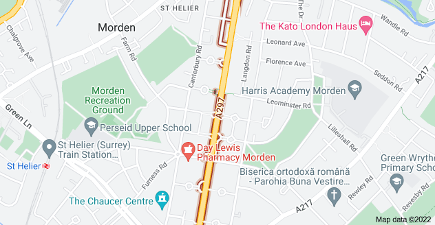 Map of St Helier Ave, Morden SM4 6JU