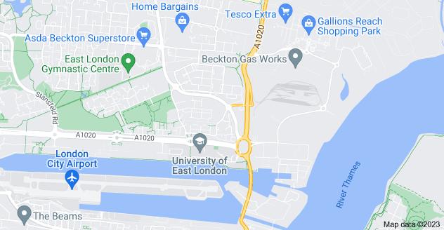 Map of Beckton, London E6 6FS