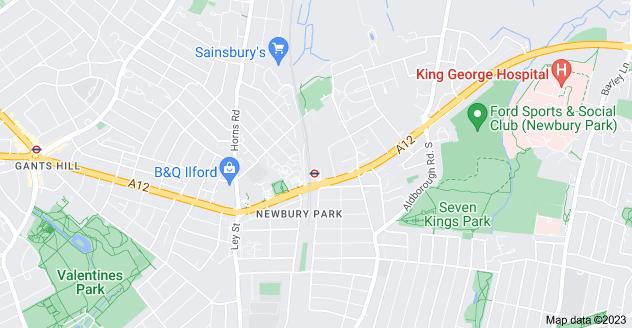 Map of Newbury Park, Ilford IG2 7RN