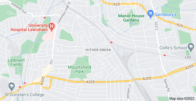 Map of Hither Green, London SE13 6TH