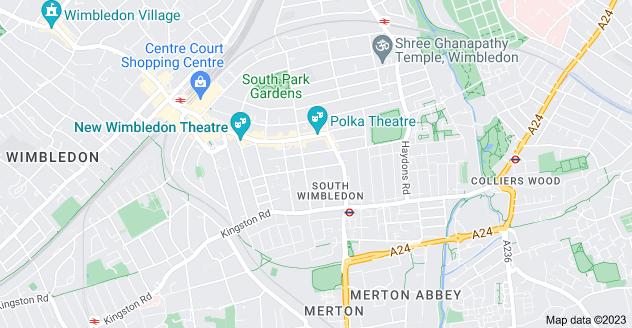 Map of South Wimbledon, London SW19 1SU