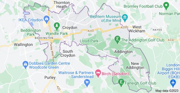 Map of Croydon CR0
