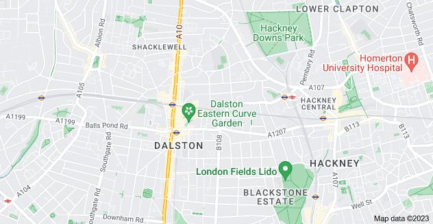 Map of Dalston, London E8 2NU