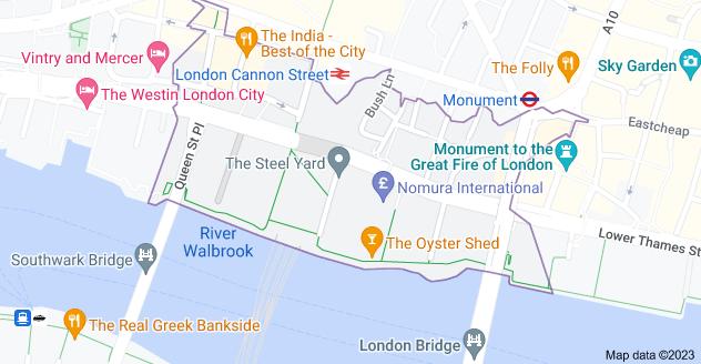 Map of London EC4R