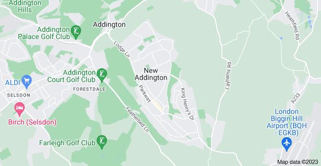 Map of New Addington
