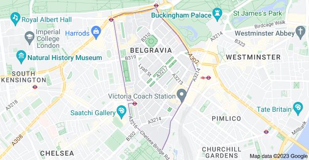 Map of Belgravia, London