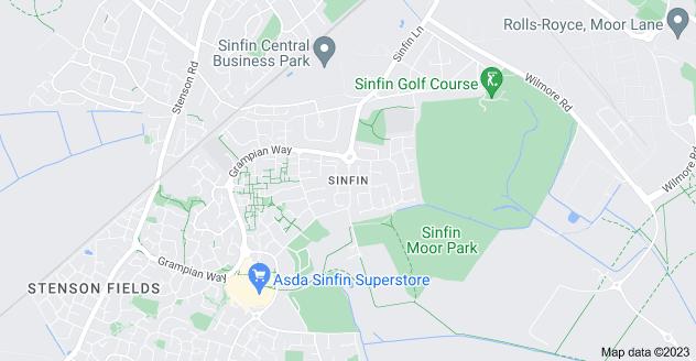 Map of Sinfin, Derby DE24 9LD