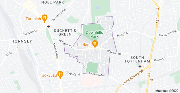 Map of West Green, London