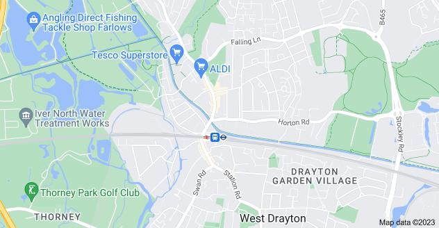 Map of Yiewsley, West Drayton UB7 8EH