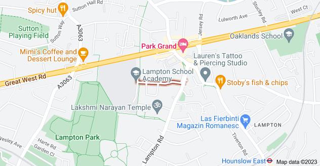 Map of Lampton Ave, Hounslow TW3 4EN