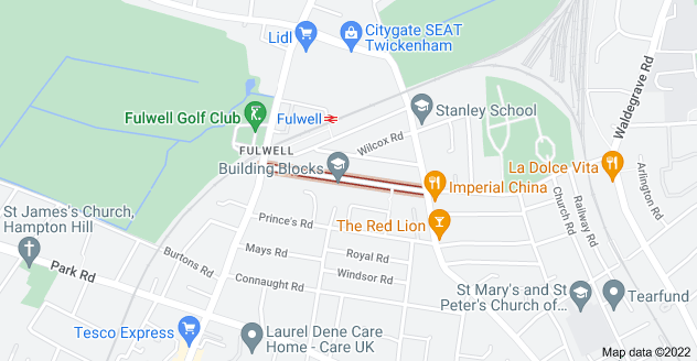 Map of Fulwell Rd, Teddington TW11 0RH