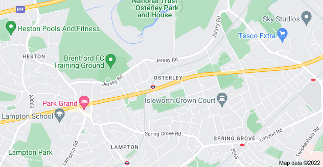 Map of Osterley, Isleworth TW7 4PU