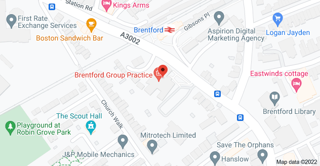 Map of Brentford Lodge, Boston Manor Rd, Brentford TW8 8DS