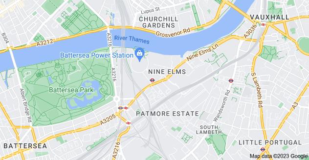 Map of Nine Elms, London SW8 4DG