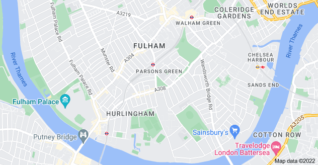Map of Parsons Green, London SW6 4UL
