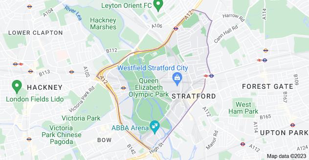 Map of Stratford, London