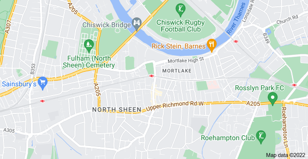 Map of Mortlake, London