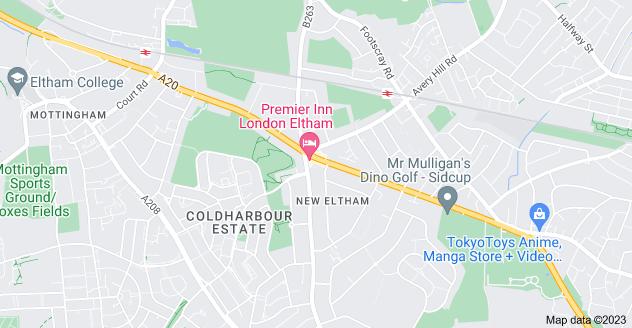 Map of New Eltham, London SE9 3TP
