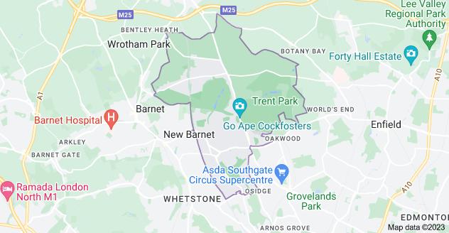 Map of Barnet EN4