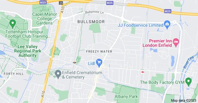 Map of Freezy Water, Enfield EN3 6PN