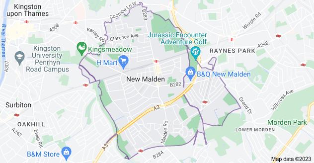 Map of New Malden KT3