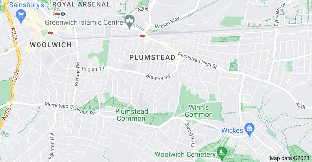 Map of Plumstead, London SE18 1TE