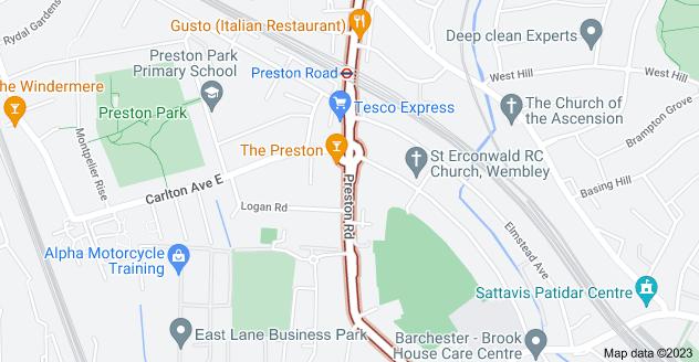 Map of Preston Rd, Wembley, Harrow HA3 0QA