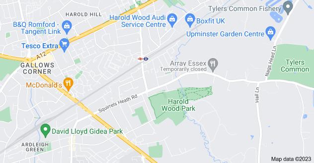 Map of Harold Wood, Romford RM3 0QB