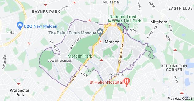 Map of Morden SM4
